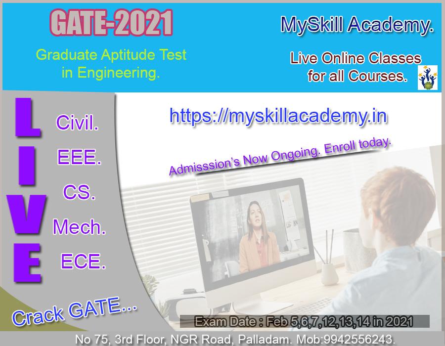 Best GATE Exam Coaching Center - MySkill Academy